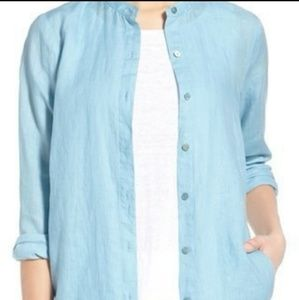 Light blue organic linen shirt